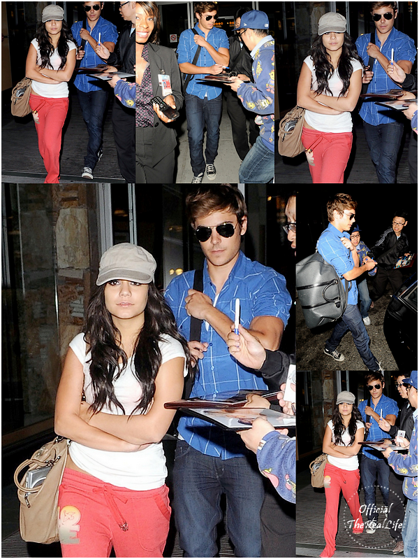 © Official-TheRealLife™  09/08/09  ※  Vanessa & Zac arrivant à l'aéroport internationnal de Vancouver, Canada.  _