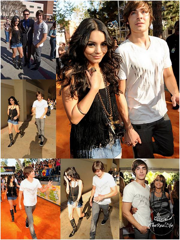© Official-TheRealLife™  28/03/09  ※  Vanessa & Zac arrivant au Kid's Choice Award dans Los Angeles.  _