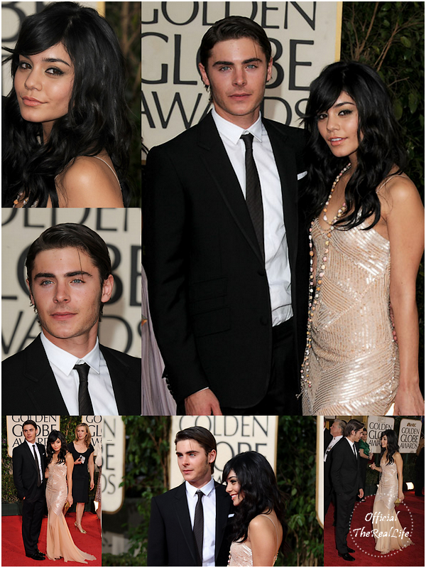 © Official-TheRealLife™  11/01/09  ※  Vanessa & Zac au Golden Globe Award de Los Angeles.  _