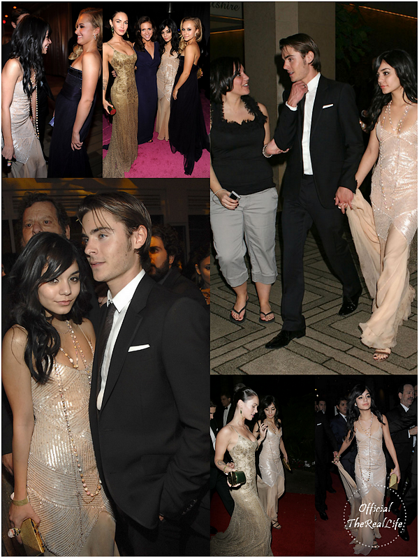 © Official-TheRealLife™  11/01/09  ※  Vanessa & Zac à l'after party des Golden Globe Award à Los Angeles.  _