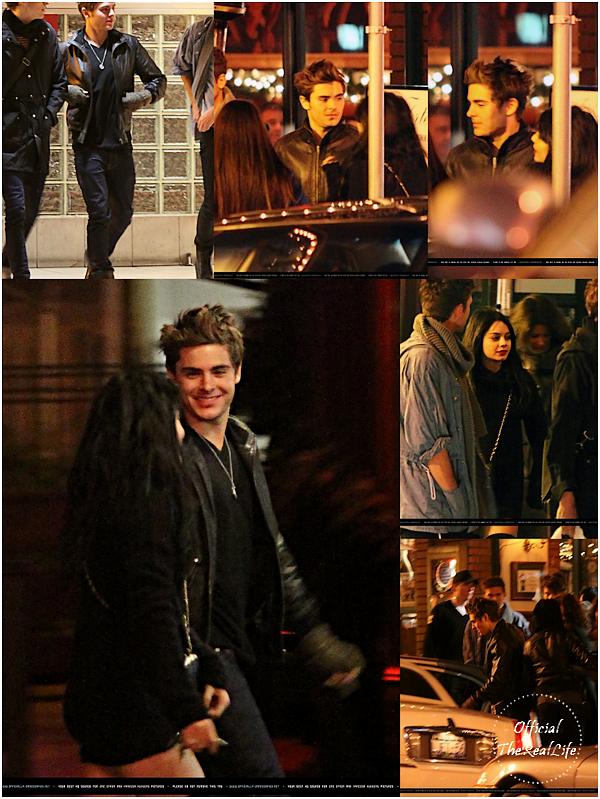 © Official-TheRealLife™  05/12/09  ※  Vanessa, Zac et leurs ami(e)s par -4°, devant le restaurant Joe'Forte à Vancouver, Canada.  _