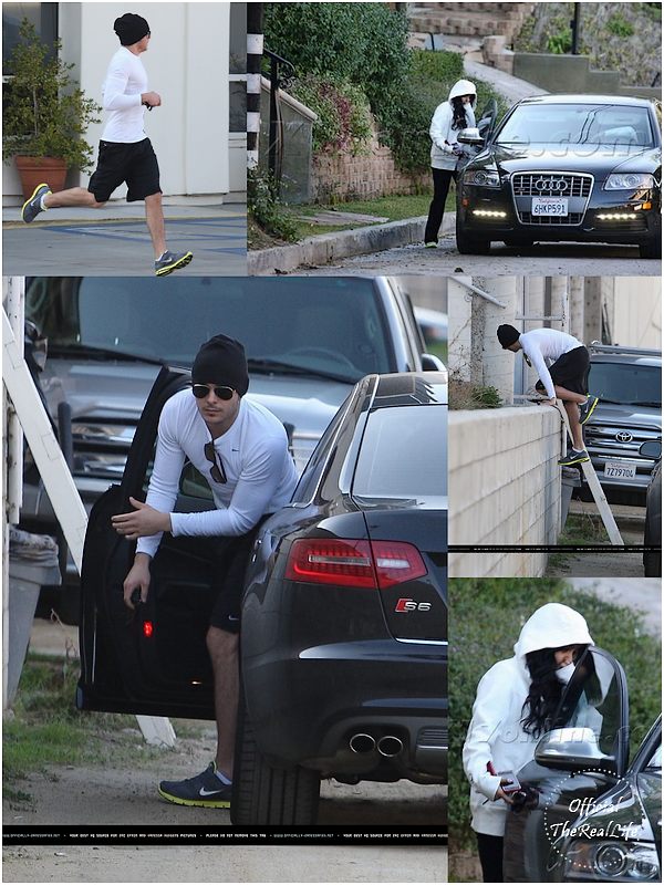 © Official-TheRealLife™  30/12/09  ※  Zac quittant la salle de sport et allant chercher Vanessa chez elle à Studio City.  _