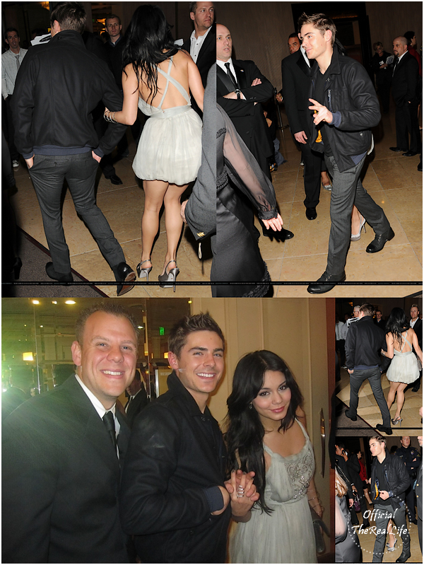 © Official-TheRealLife™  17/01/10  ※  Zac venant récupérer Vanessa au Golden Globe Party dans Los Angeles.  _