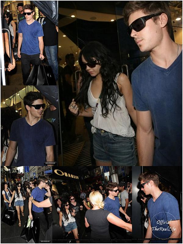© Official-TheRealLife™  14/02/10  ※  Zac et Vanessa quittant le magasin Oakley pour la St.Valentin à Sydney, Australie.  _
