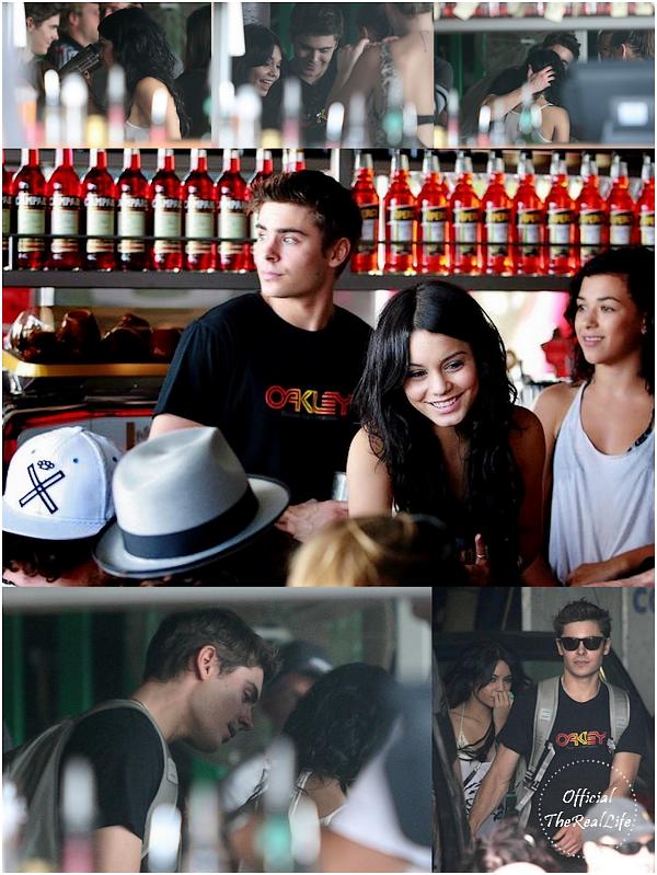 © Official-TheRealLife™  16/02/10  ※  Zac et Vanessa au restaurant Italien North Bondi à Sydney, Australie.  _