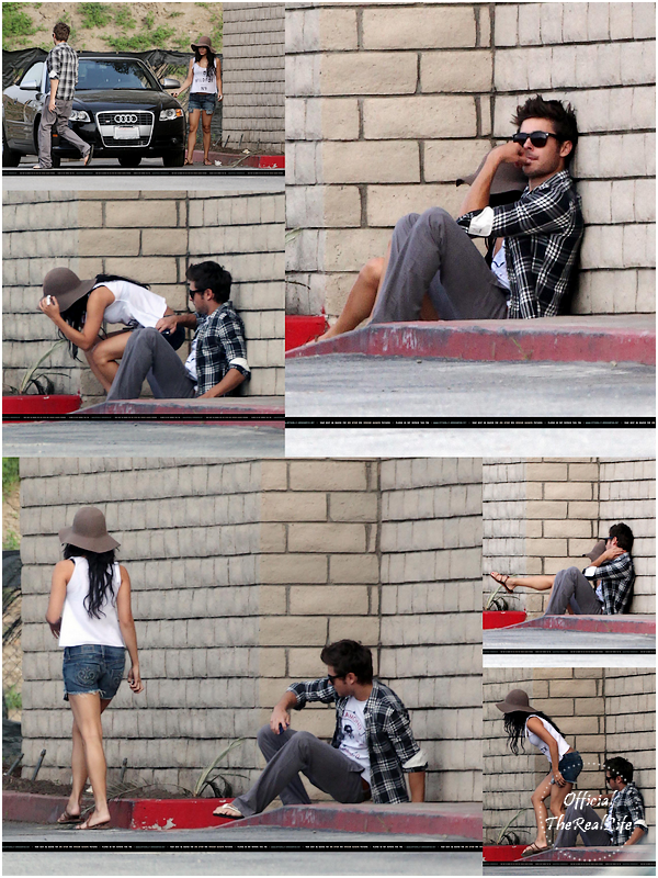 © Official-TheRealLife™  24/03/10  ※  Zac et Vanessa assis dans une ruelle de Beverly Hills. Bizzare...   _