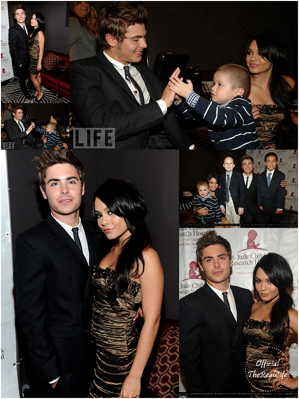 "© Official-TheRealLife™  06/04/10  ※  Zac et Vanessa au 2010 inaugurale St. Jude Children's Hospital ""Estrellas Por La Vida"" à Los Angeles.  _"