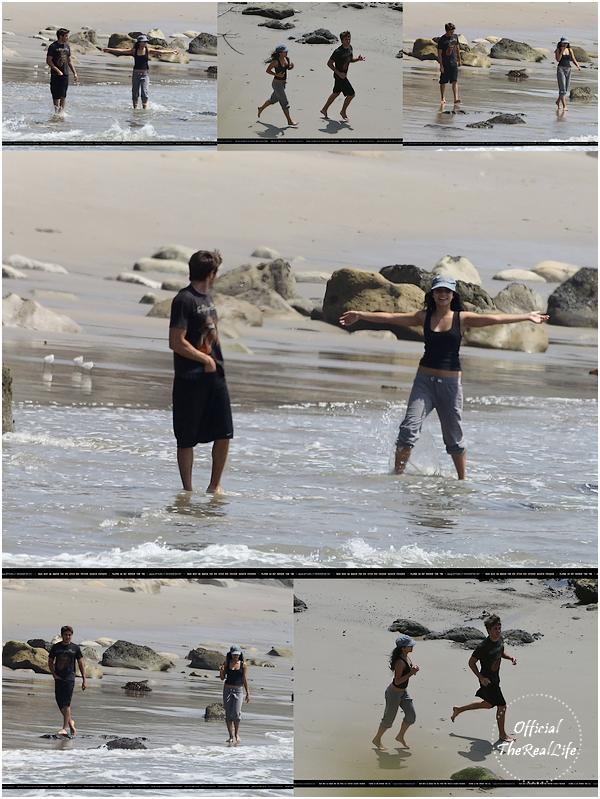 © Official-TheRealLife™  15/04/10  ※  Zac et Vanessa faisant un jogging sur les plages de Malibu.  _
