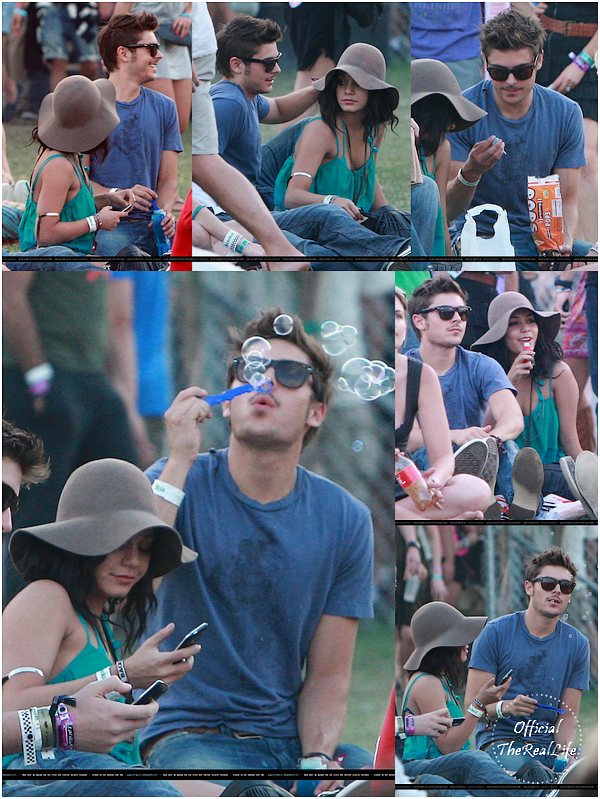 © Official-TheRealLife™  18/04/10  ※  Zac et Vanessa pour le festival californien Coachella.  _