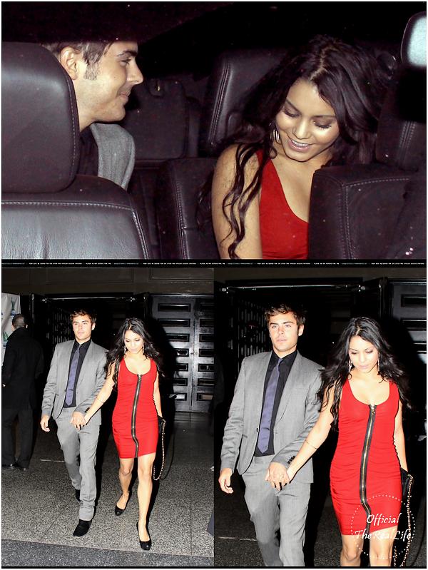 © Official-TheRealLife™  21/04/10  ※  Zac et Vanessa quittant le  Gala Habitation Familiale de Los angeles à Hollywood.  _