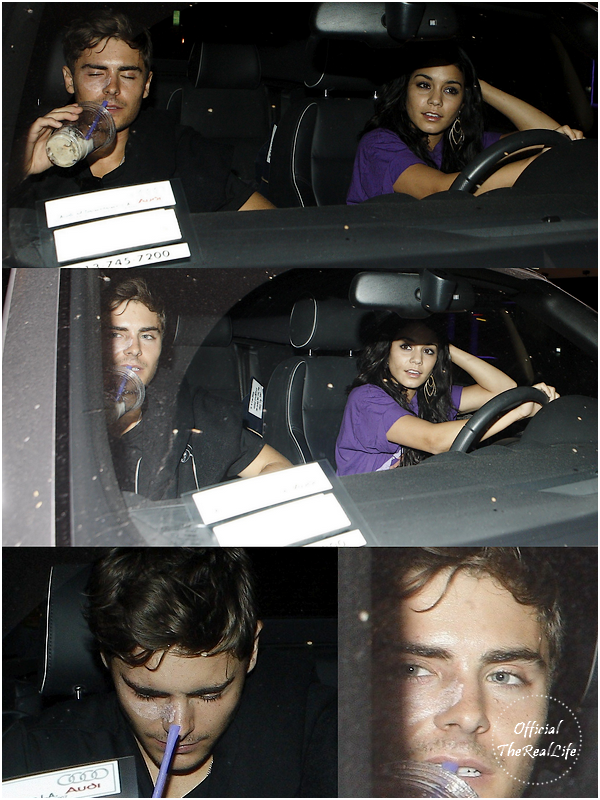 © Official-TheRealLife™  08/05/10  ※  Zac et Vanessa quittant le restaurant Boa à Los Angeles.  _