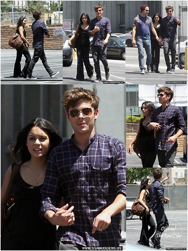 © Official-TheRealLife™  29/07/10  ※  Zac est venue chercher Vanessa au répétition Rent pour aller déjeuner dans Los Angeles.  _