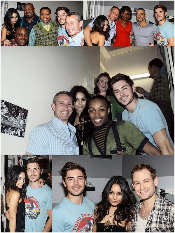 © Official-TheRealLife™  17/08/10  ※  Zac et Vanessa au théatre de New Yprk pour voir jouer leurs co-star Corbin Bleu.  _