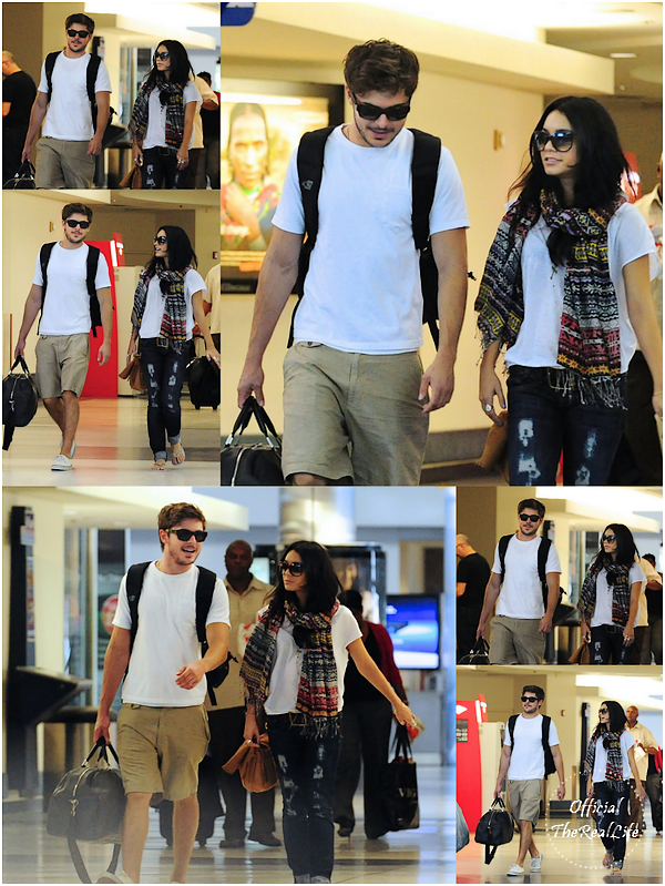 © Official-TheRealLife™  19/08/10  ※  Zac & Vanessa décolle de L.A.X vers Hawaï.  _
