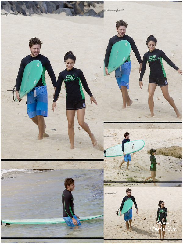 © Official-TheRealLife™  22/08/10  ※  Zac & Vanessa surfant à Hawaï.  _