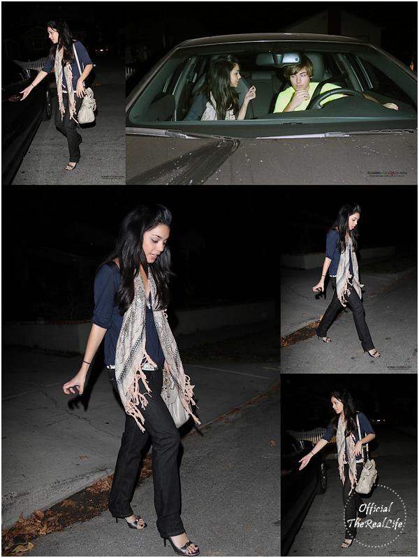 © Official-TheRealLife™  13/11/2007  ※  Vanessa aperçue de nuit rejoignant la voiture de Zac dans Los Angeles.  _