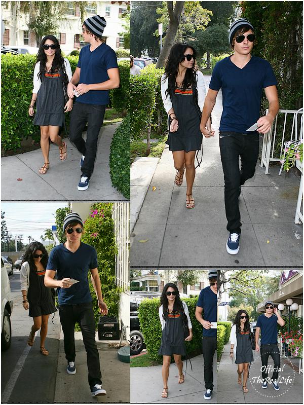 © Official-TheRealLife™  04/11/2007  ※  Zac et Vanessa allant petit déjeuner au célèbre restaurant Chez Nous à Toluca Lake.  _