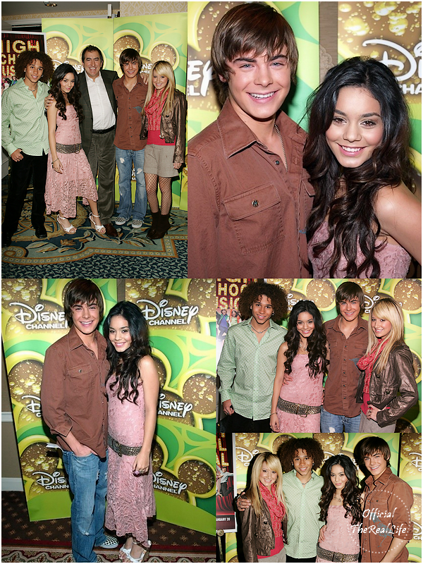 © Official-TheRealLife™  16/12/2005  ※  Zac et Vanessa au High School Musical Disney Channel Press Breakfast à Los Angeles.  _