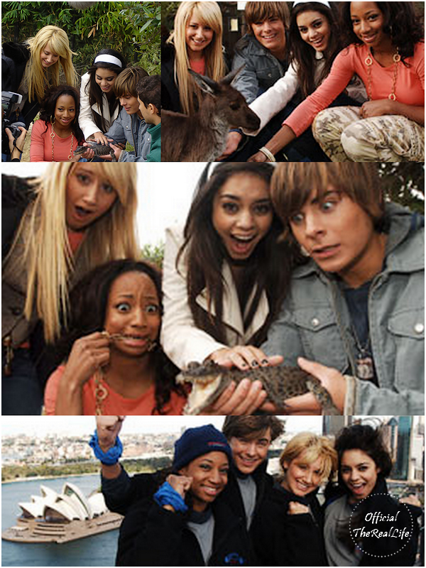 © Official-TheRealLife™  25/05/2006  ※  Zac et Vanessa durant leur Australia Trip promo d'High School Musical.  _