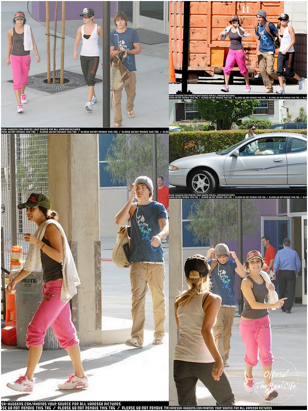 © Official-TheRealLife™  11/08/2007  ※  Zac, Vanessa et Ashley quittant la salle de sport à Los Angeles.  _