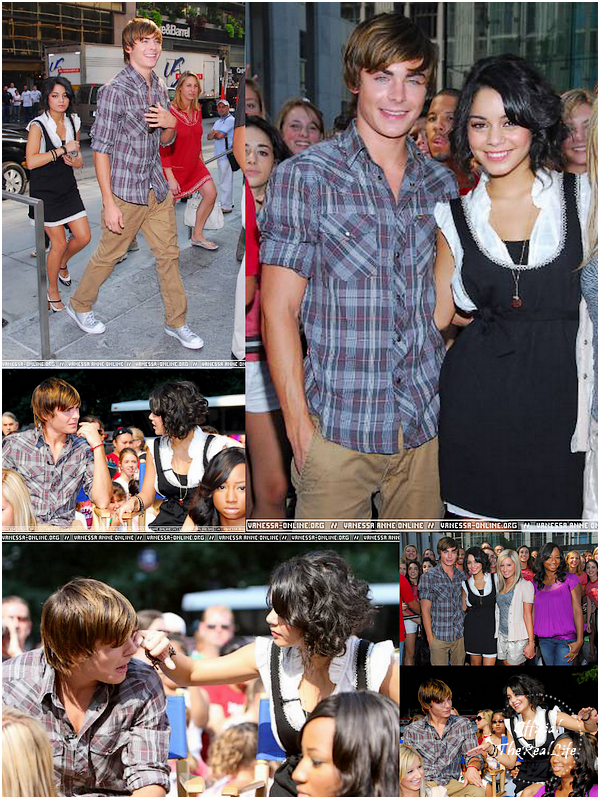 © Official-TheRealLife™  02/08/2007  ※  Zac et Vanessa à l'émission The Early Show à New York.  _