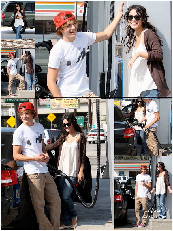© Official-TheRealLife™  29/09/2007  ※  Zac et Vanessa dans une station essence de Los Angeles.  _