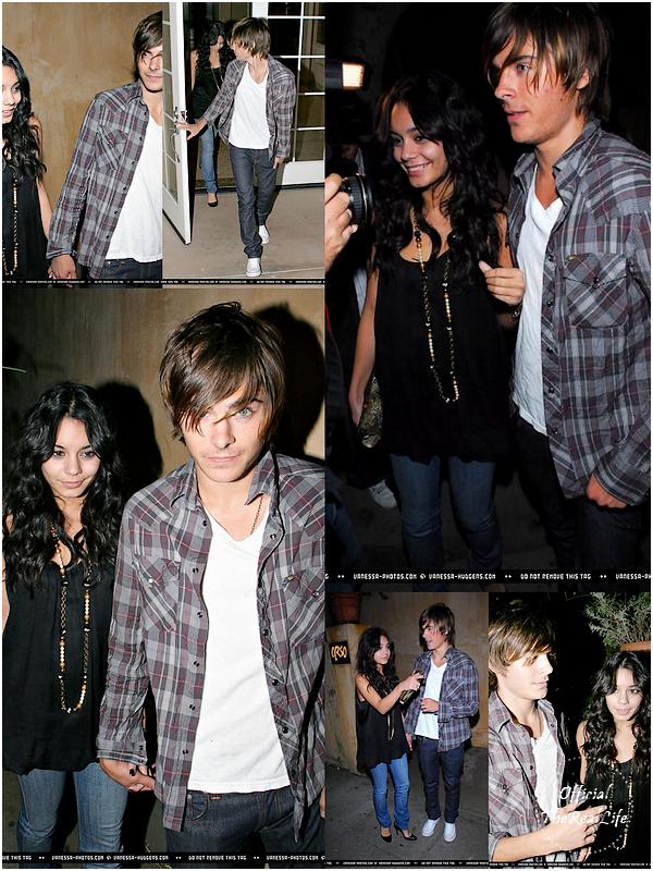 © Official-TheRealLife™  18/10/2007  ※  Zac et Vanessa quittant un restaurant à Los Angeles pour l'anniversaire de celui ci.  _