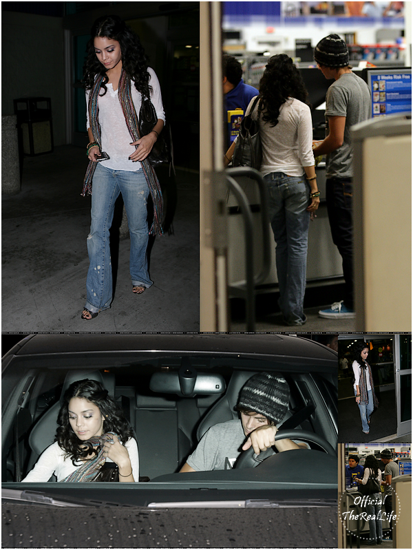 © Official-TheRealLife™  19/10/2007  ※  Zac et Vanessa faisant une pause dans le magasin Best Buy à Los Angeles .  _