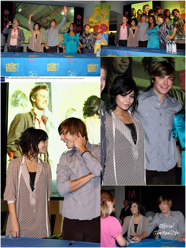 © Official-TheRealLife™  29/08/2007  ※  Zac et Vanessa au Meet & Greet d'High School Musical 2 à Londres.  _
