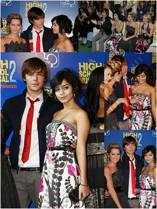 © Official-TheRealLife™  02/09/2007  ※  Zac et Vanessa à la première de High School Musical 2 à Londres.  _