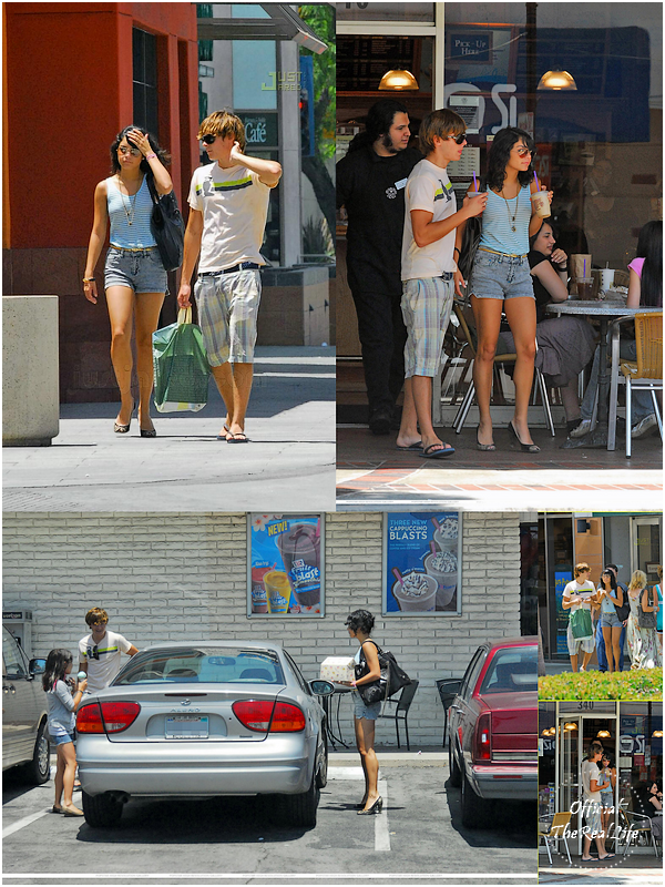 © Official-TheRealLife™  22/06/2007  ※  Zac, Vanessa et Stella faisant du shopping dans le quartier de Burbank à Los Angeles.  _
