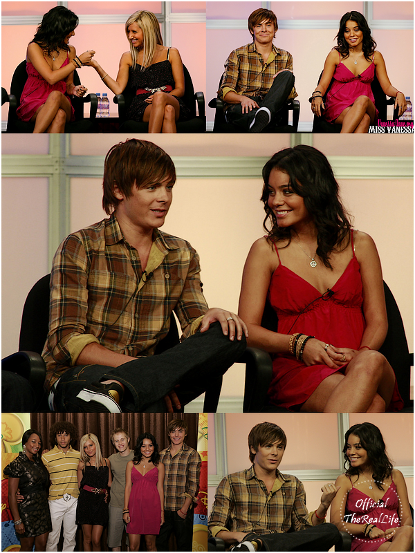 © Official-TheRealLife™  04/07/2007  ※  Zac et Vanessa au Summer Television Critics Association avec le Cast d'HSM.  _