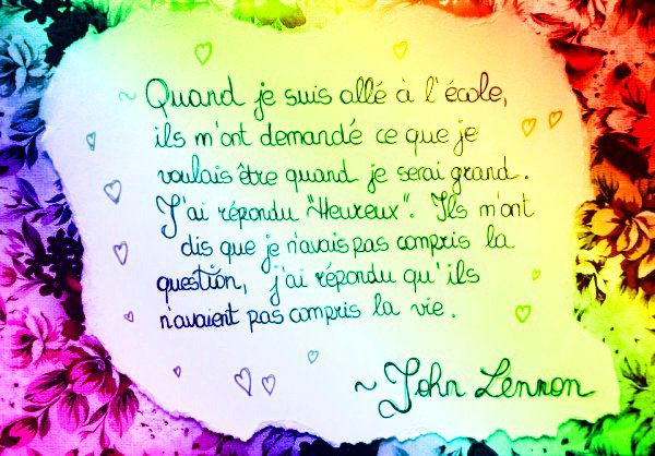 Citation de John Lennon ♥♥