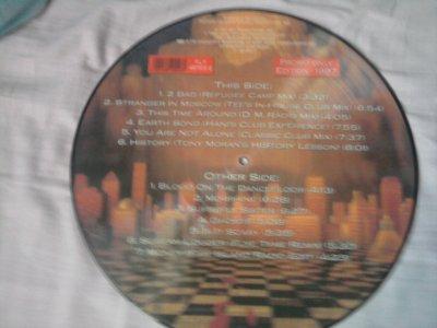 vinyl Blood on the dance floor