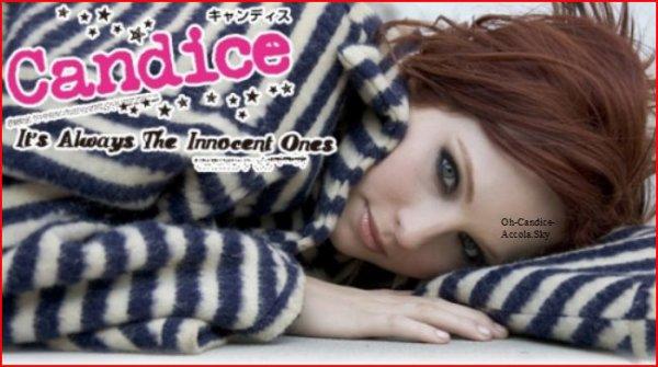 Candice en Chanteuse.