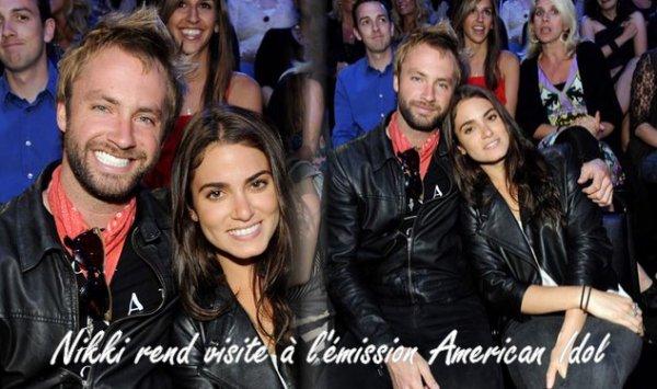 13/05/2011:Enfin une sortie de notre belle Nikki qui rend visite à l'émission American Idol avec son nouveaux boy friend.