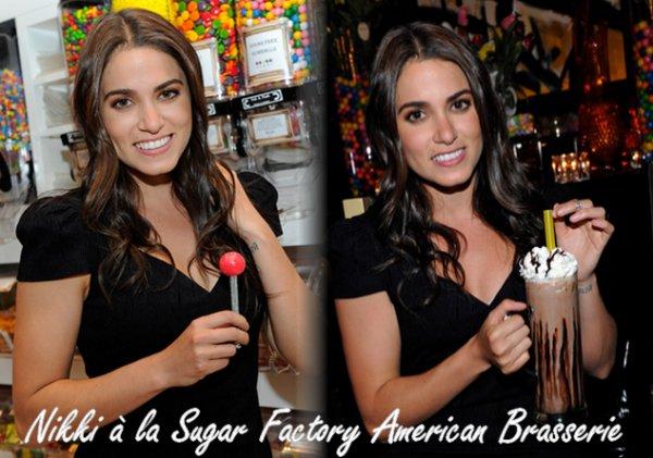 15/05/2011:Nikki, prisent pendant sa fête d'anniversaire au Gallery Nightclub à Las Vegas(son anniv et le 17) + Nikki à également fait un détour par le « Sugar Factory American Brasserie ». + Le lendemain de sa fête d'anniversaire, Nikki s'est rendue au « Studio 21 Tattoo » à Las Vegas.