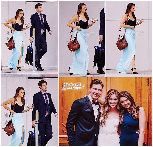 • Candids - 12/09/2015 : Nina s'est ensuite rendue au mariage de Kayla Ewell toujours à  Los Angeles !  Nina était accompagnée de son petit-ami Austin pour se rendre au mariage de son amie de longue date, au Jonathan Club !