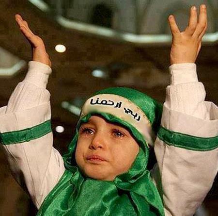 Enfants syriens mendient à Dieu de les protéger contre le régime syrien