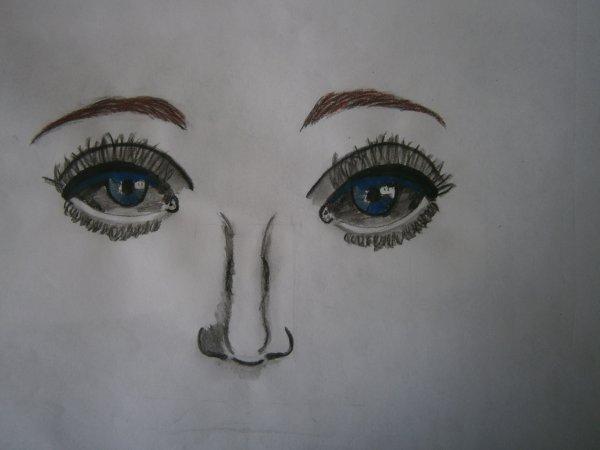 Un dessin à la peinture que j'arrive pas à finir (en plus il est mal fait ) ^^