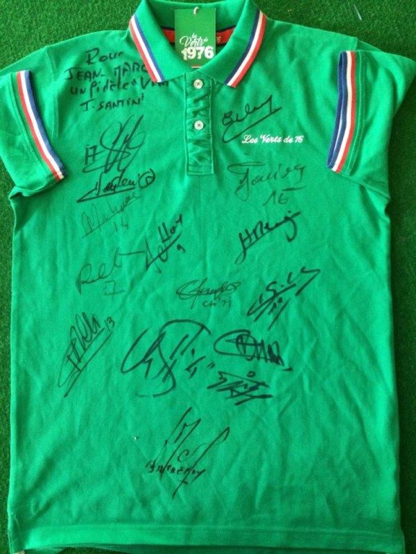 Maillot 228  sainté signé par l équipe de 76