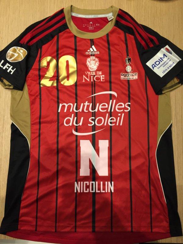 Maillot 233 face  handball Nice féminin