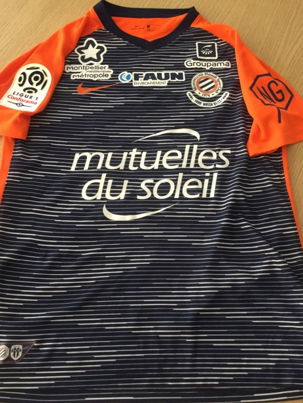 Maillot 254 Andy delort montpellier le 10/03/19