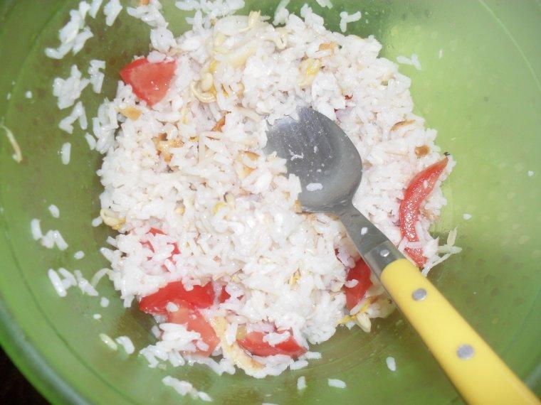 Salade d'éte (riz-tilapia)