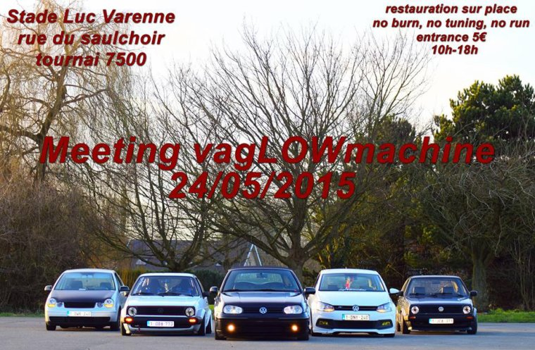 meeting vag le 24 mai Tournai on vous attend nombreux