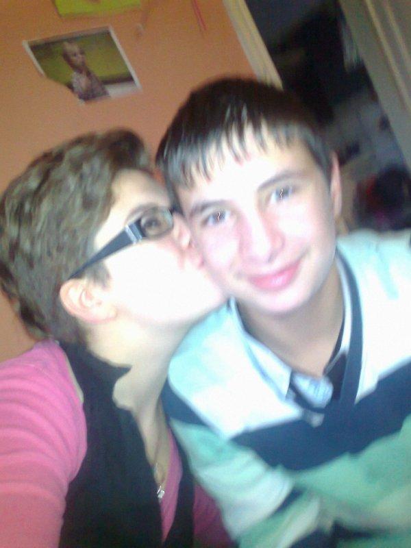 mon petit frere et moi <3