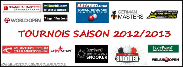 Tournois saison 2012/2013
