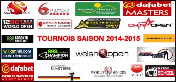 Tournois saison 2014-2015