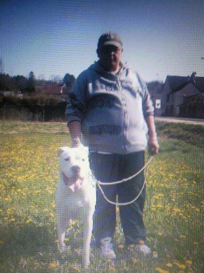 moi et mon dogue argentin