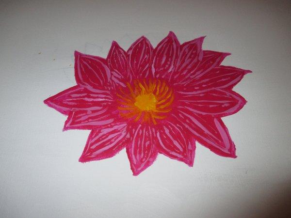 tableau que j'ai fait en 2 jours fleur de lotus